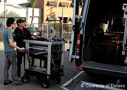 Company 3,Bigfoot on set outside Sprinter van