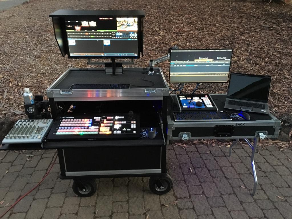 Bigfoot Tricaster System SideOps with lift off lid-table,swingup monitor with shade option -