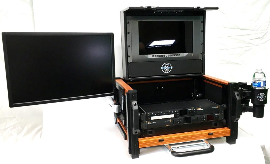 Versa Micro Flypak with second side monitor