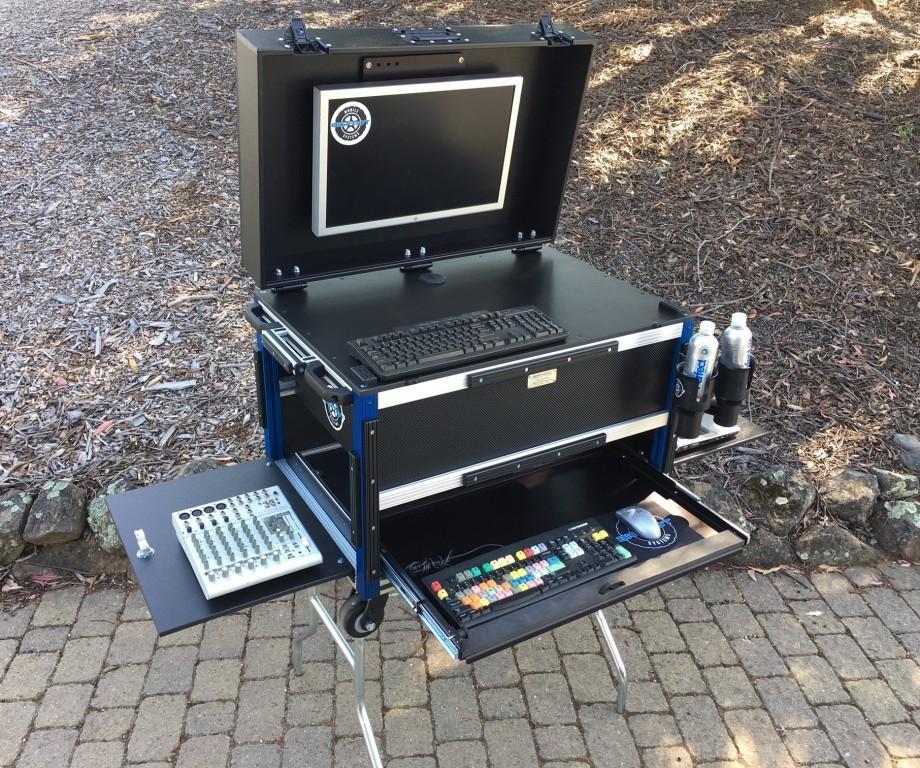Bigfoot 2018 VersaFlypak with lower drawer uppr 5RU system open