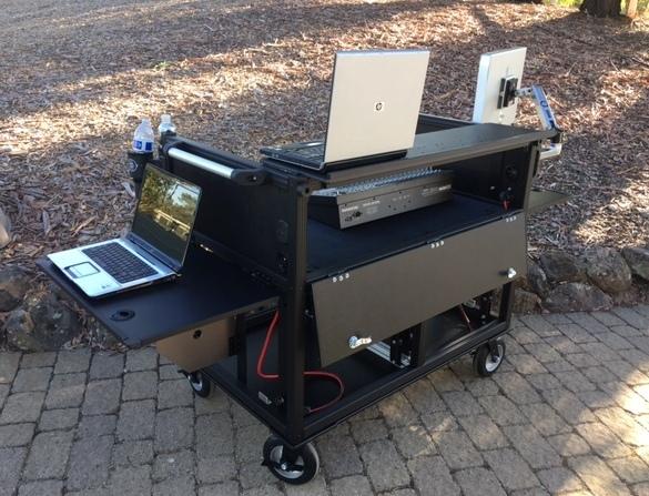 -Bigfoot Large Console DoubleRack Cart open rear
