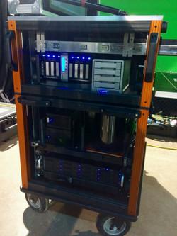 Bigfoot Cubes Cart on Set, MAC system
