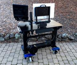 Microsoft Sit-Stand desk  rear