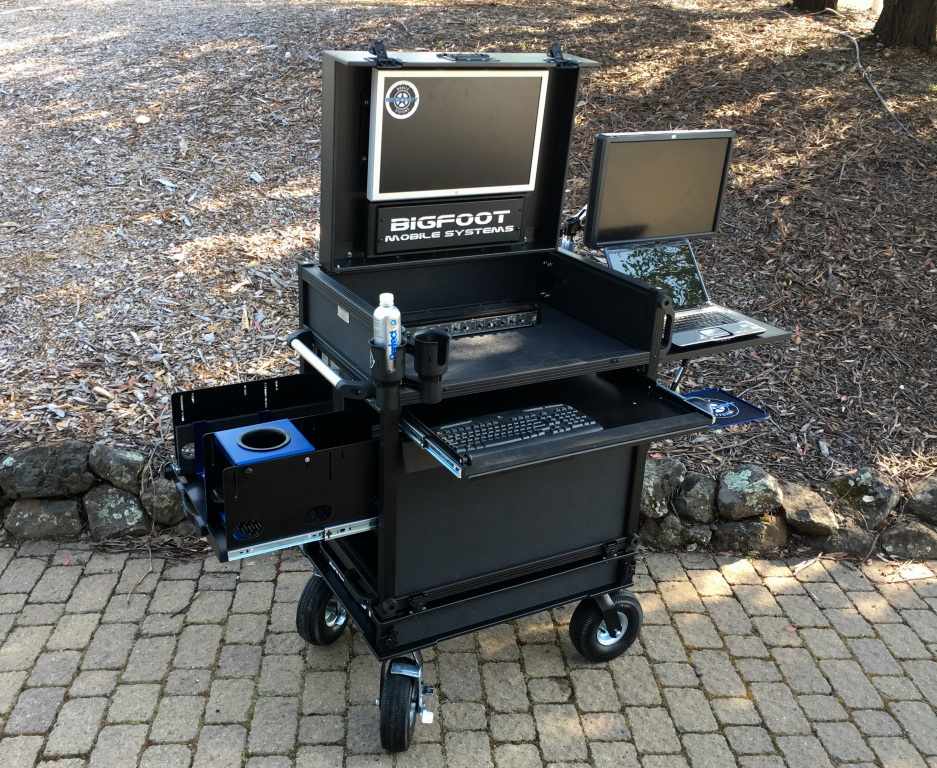 Bigfoot DIT cart with MAC drawer Cart open