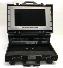 Bigfoot Briefcase Flypak open with 'constant angle addjustable lid'  8RU