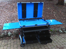 Doublewide cart with drawers
