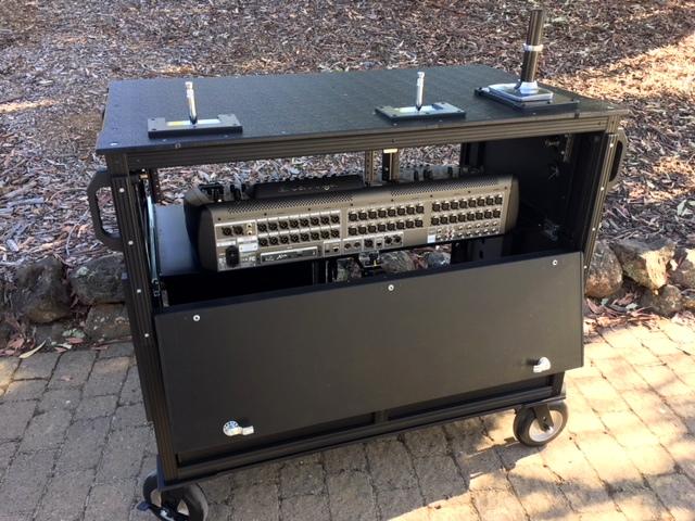 Dual Rack Large Audio Console 2
