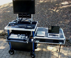 Bigfoot Tricaster - Side ops with large drawer, swing up monitor rack