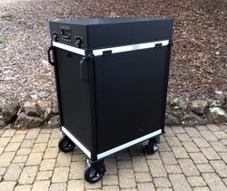 SingleRack with flip up lid storage closed