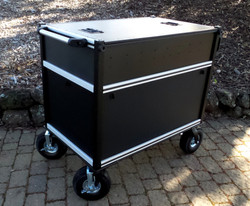 Bigfoot Large Audio Console System with large turf wheels, closed