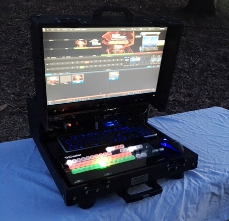Bigfoot Briefcase with Control surface switcher and standarn monitor