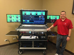 Bigfoot 860 or 8000 Doublewide with 47inch in-lid monitor, dual side monitors