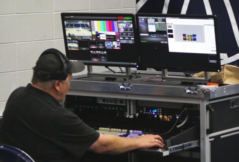 Bigfoot Doublewide Dual swing up monitor mounts Midco