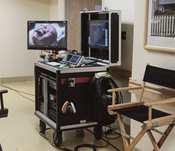 Domicks-Bigfoot MAC N Rack cart on set