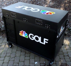 Golf Channel-Bigfoot DoubleRack Plus Production cart system closed