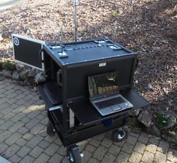 Bigfoot cart  with no storage lid, 4 each babypin monitor mounts (3)