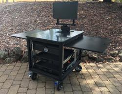 SingleRack Cart, solid top with swingup-swivel monitor mountjpg