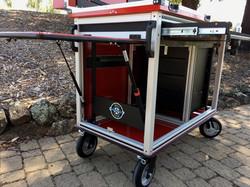 Bigfoot Doublewide cart with adjacent racks to operator 3