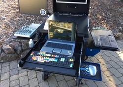 Bigfoot Single Rack Cart with slideout options,  side flip ups