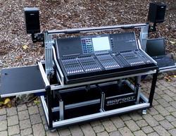 Bigfoot Audio console CL-5 cart dual racks.