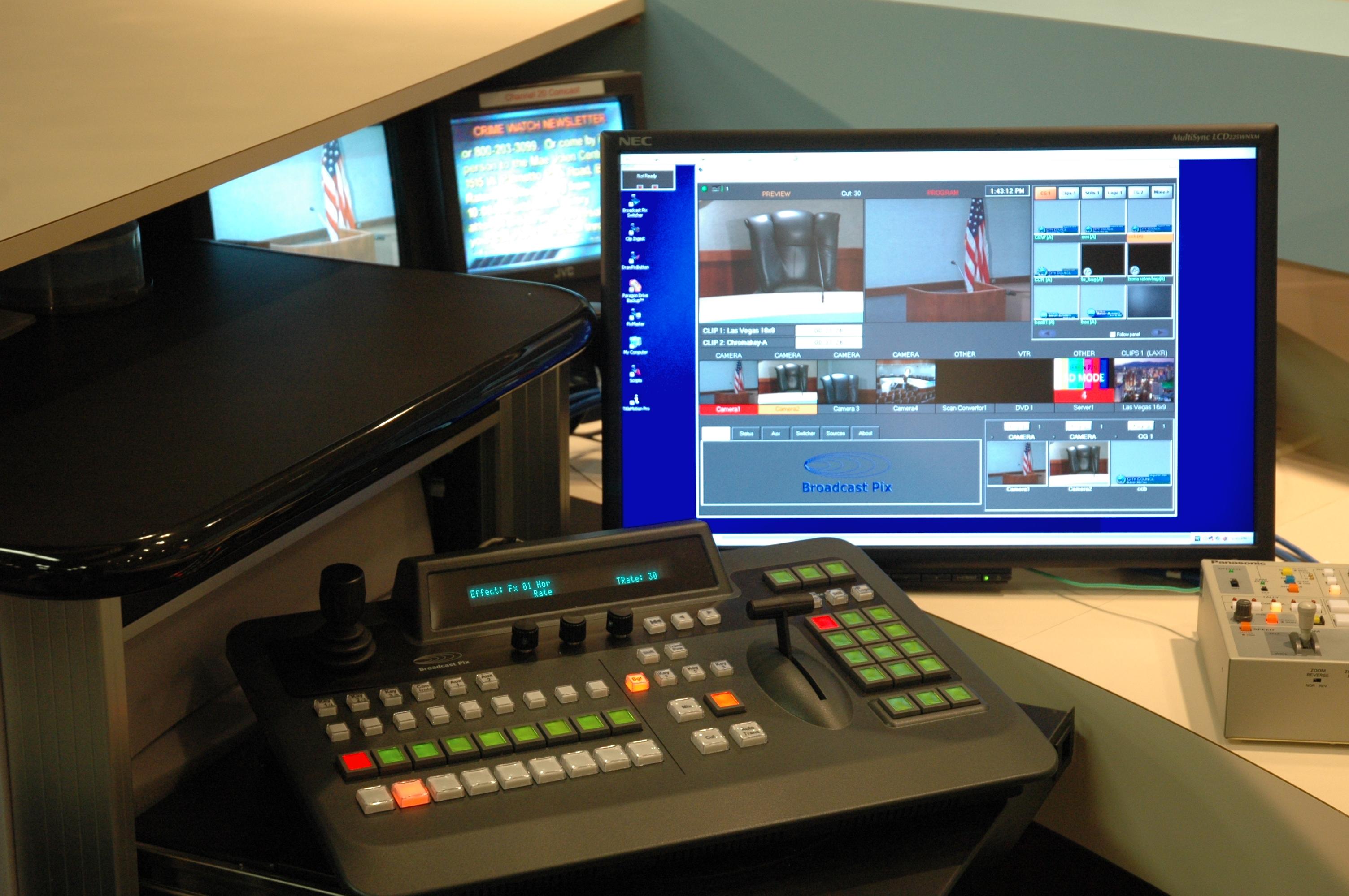 City of Boca Raton Bigfoot BPIX Slate system rotating control panel