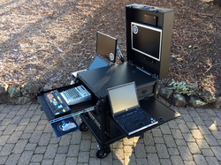 Bigfoot Single Rack Cart with slideout options, lid and side flip up