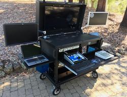 DoubleRack three monitors