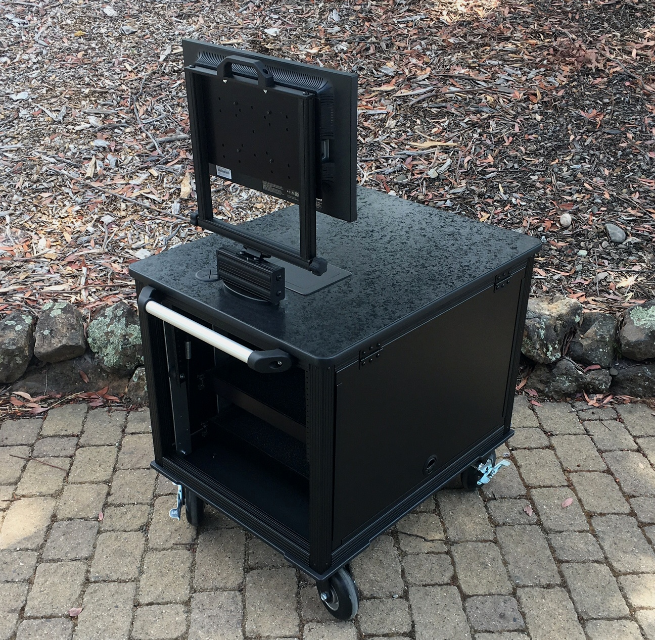 SingleRack Cart, solid top,flip up sides rear