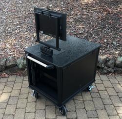SingleRack Cart, solid top,flip up sides rear