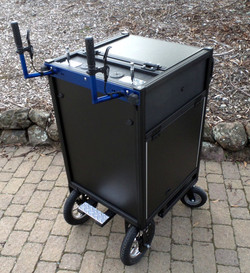 Bigfoot DIT style cart with rear large wheels and brakes sml