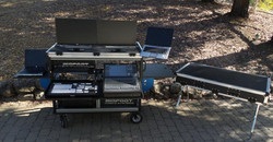 McKesson Bigfoot cart open, with lid -table