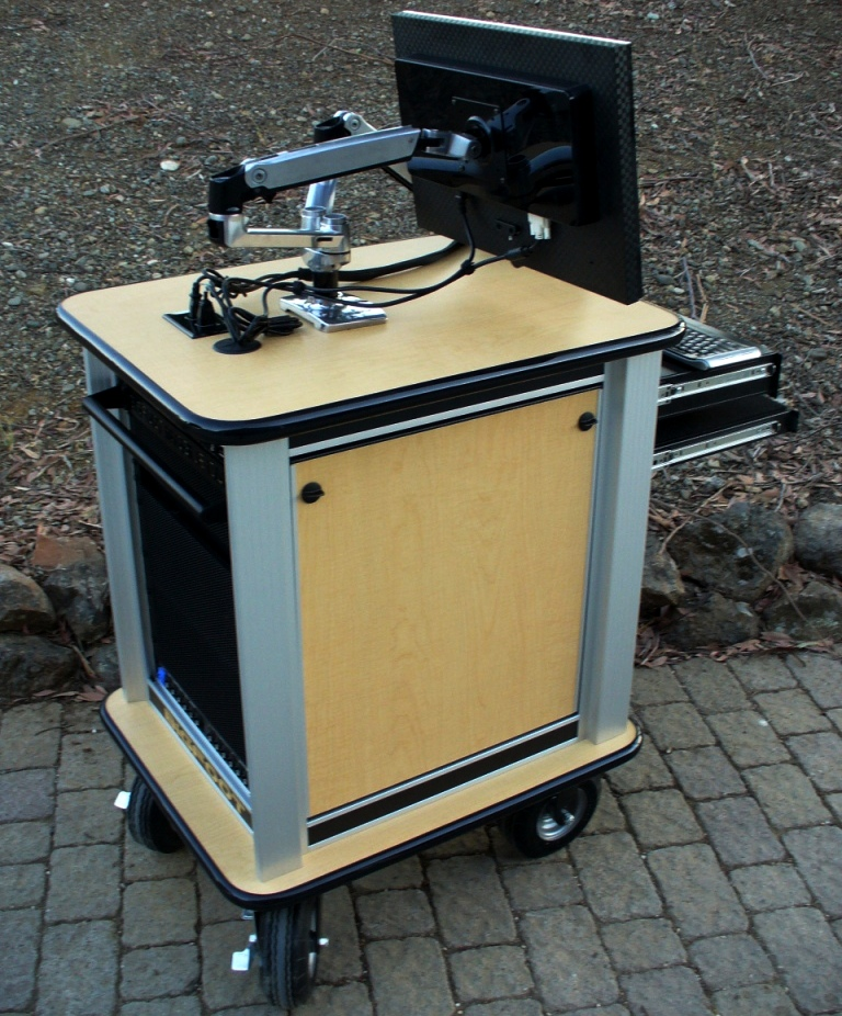 Dual Articulating monitor mount, quick breakdown