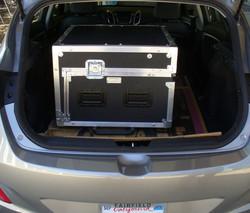 Bigfoot Versa Flypak in small compact car