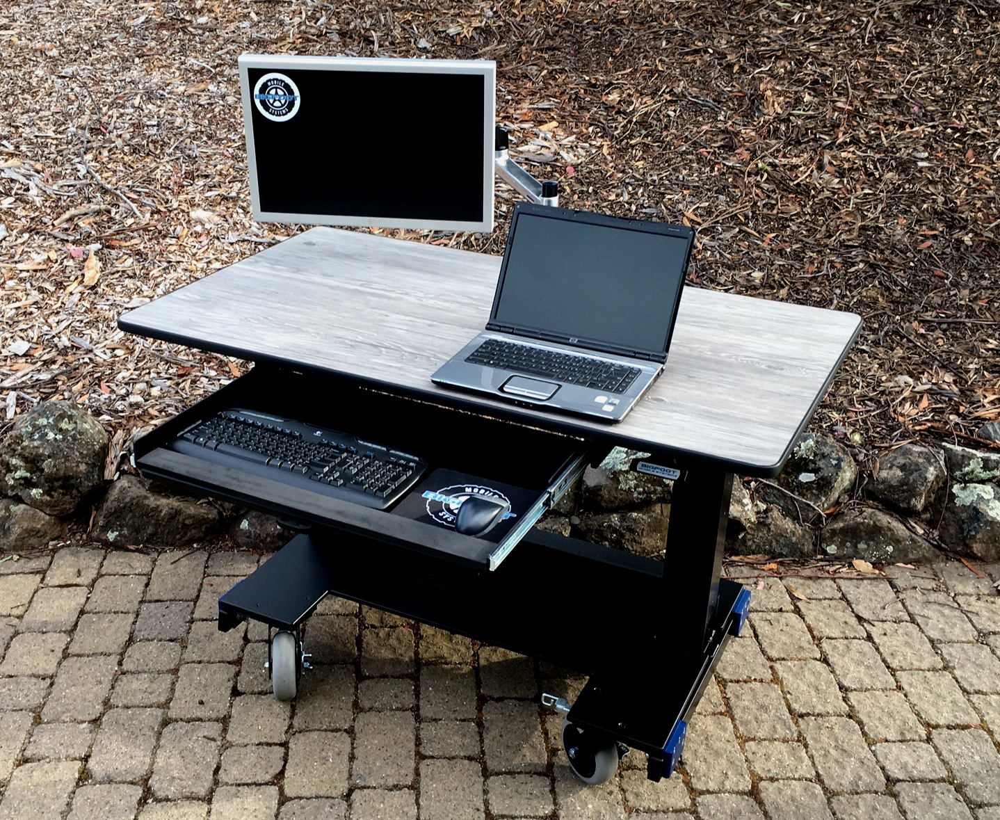 Sit Stand Desk Basic Desk KB drawer