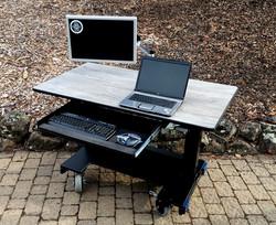 Sit Stand Desk Basic Desk KB drawer