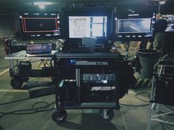 Eli Berg on set