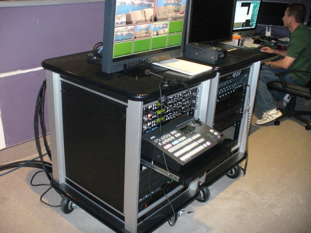 City of Long Beach LBTV carts in Studio2
