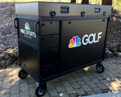 Golf Channel-Bigfoot DoubleRack Plus Production cart system closed front