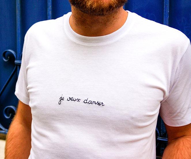 "T-shirt "" Je veux danser "" - Unisexe"