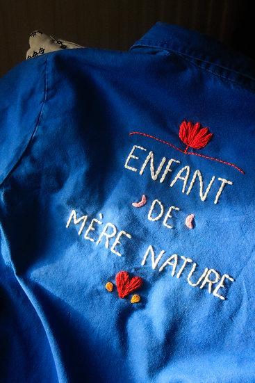 """Surchemise """"Enfant de Mère Nature"""" - Bleue"""