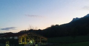 Une lumière de plus le soir aux Terraux.