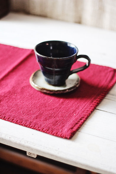 Handwoven Placemats - Red