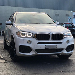 BMW X5 leaving the workshop after rectif