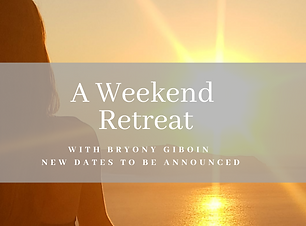 A weekend retreat poster