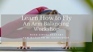 Arm balance poster