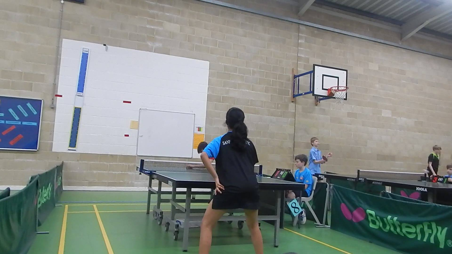 Day 3 National Cadet produced some excellent Table Tennis. Sanford Link little under strength, but this did not stop the team produce some excellent rallies. Emma playing for the first time after a break for a year, matched up to her opponents. Edwar