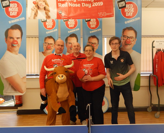 SAINSBURYS LINK UP WITH SANFORD TTC ON RED NOSE DAY