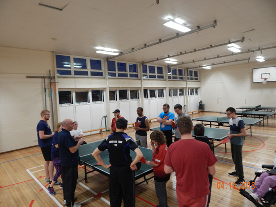 SANFORD TABLE TENNIS CLUB ARE TOPS IN THE COMMUNITY