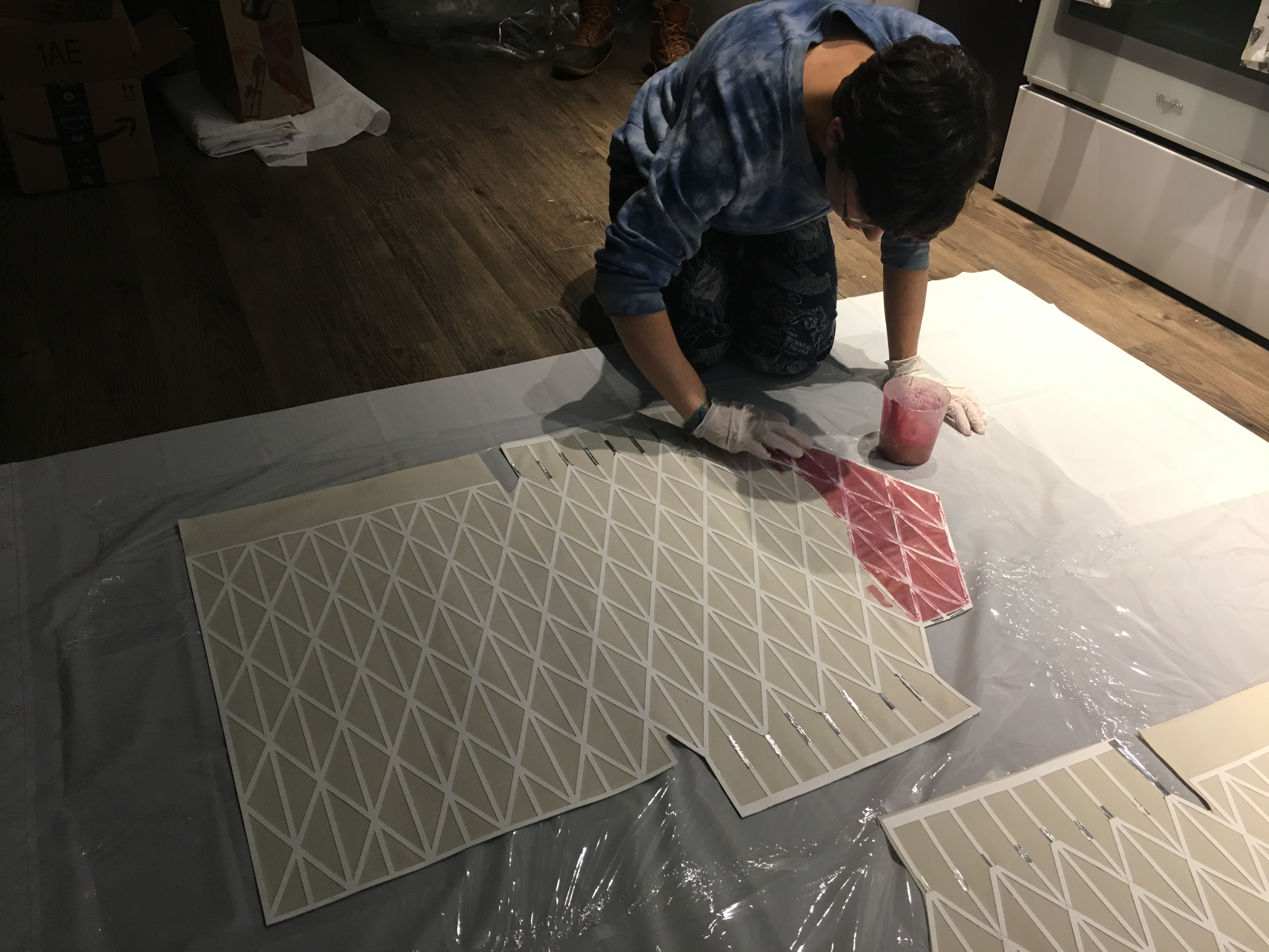 coating textiles with resin