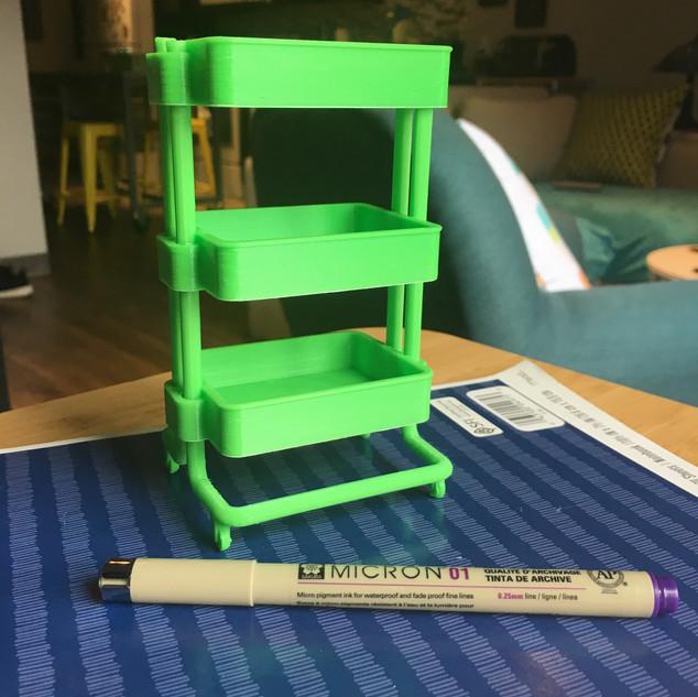 3D printed Ikea Raskog cart